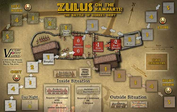 Zulus on the ramparts!, board